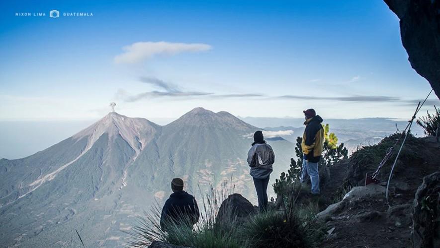 Increíble panorama desde la cumbre del Volcán de Agua. (Foto: Nixon Lima)