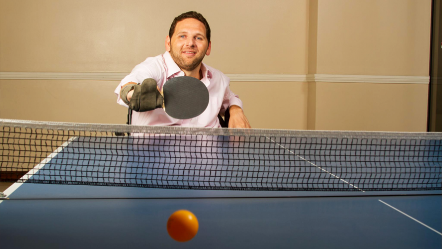 A pesar del accidente, Alan Tenenbaum se dispuso a continuar practicando sus deportes favoritos. (Foto: Alan Tenenbaum)
