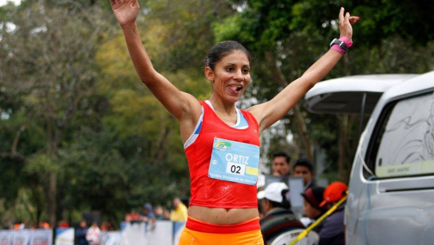 Mirna Ortiz, marchista guatemalteca