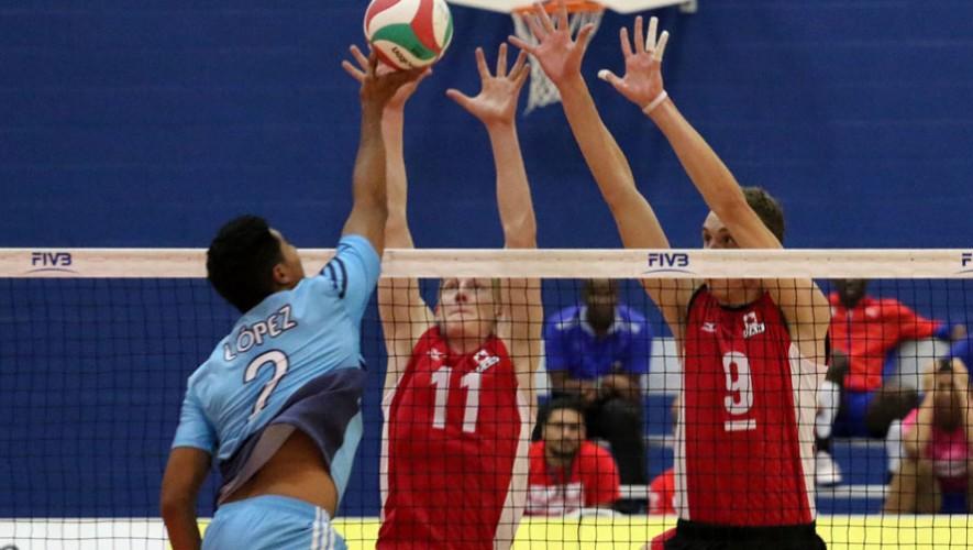 Los guatemaltecos no pudieron ante la ofensiva de los anfitriones. (Foto: Asociación de Federaciones Centroamericanas de Voleibol)