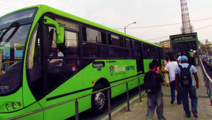 Estas son las rutas del Transmetro en la Ciudad de Guatemala. (Foto: Guatemala Daily)