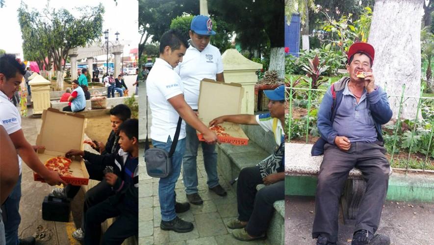 Jóvenes guatemaltecos salieron a la calle para regalar comida. (Foto: Black Label Bulls)