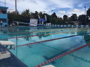 Piscina que sirvió para las pruebas de natación. (Foto: Conader)