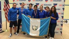 El equipo masculino guatemalteco fue el encargado de darle la segunda medalla al país. (Foto: Asociación Nacional de Squash)