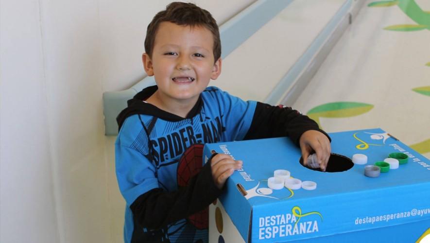 Tus tapitas plásticas se pueden convertir en ayuda para niños con cáncer en Guatemala. (Foto: Ayuvi)