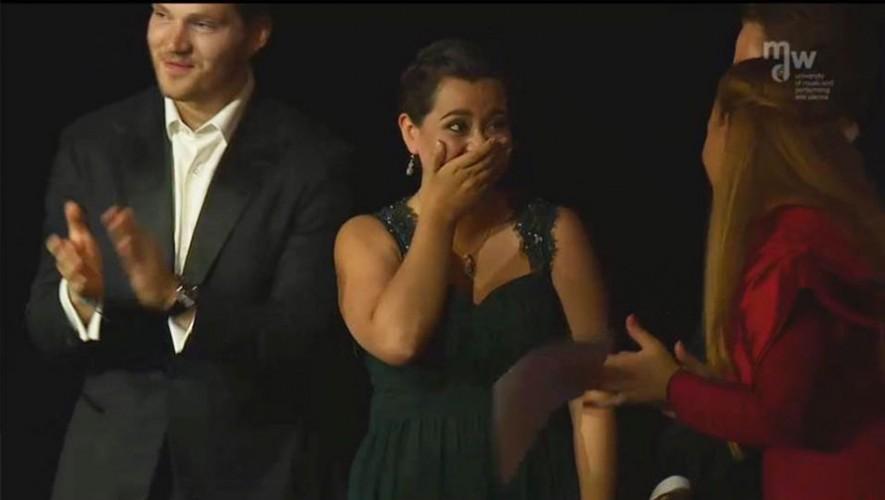 La guatemalteca Adriana González obtuvo el primer lugar en la competencia de canto Otto Edelmann. (Foto: Departamento de Música de la Universidad del Valle de Guatemala)