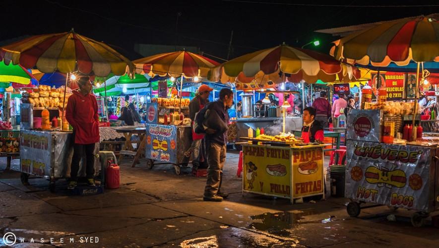 Las carretas de comida son típicas en Guatemala. (Foto: Waseem Syed)