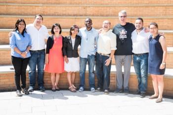 De izquierda a derecha: Nidhi, Jaime, Elaine, Pagna, Oluwadotun, Erwin, Bill, Tulio y Bárbara. (Foto: Cortesía de Tulio Castillo)