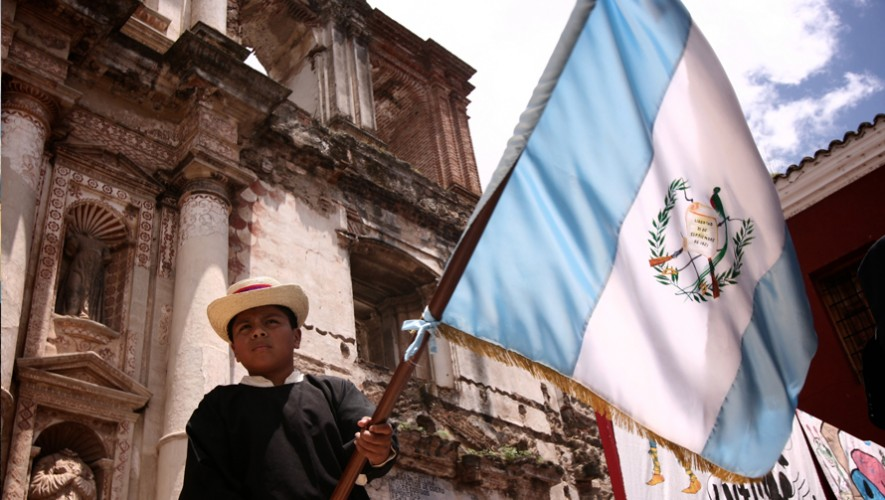 La actual bandera de Guatemala se estableció en 1871. (Foto: Nelo Mijangos)