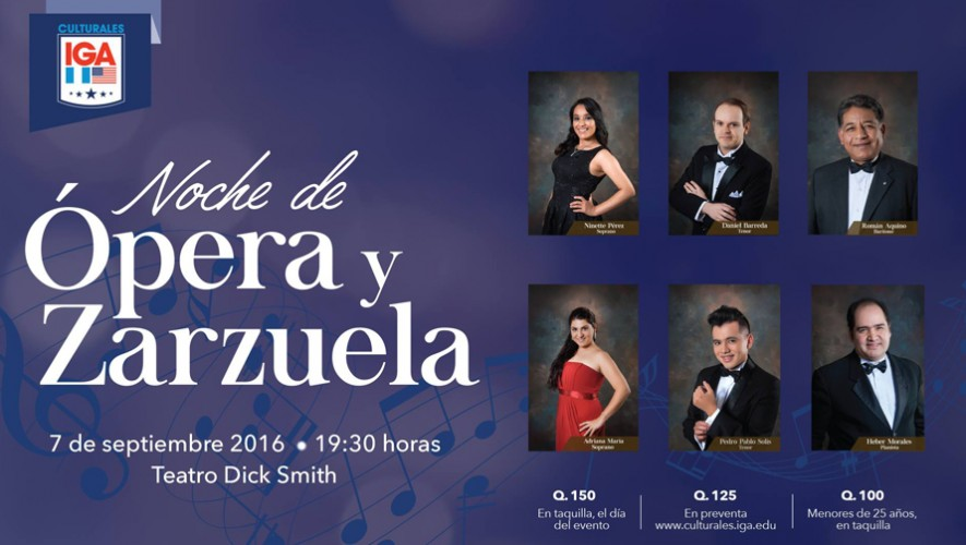Noche de Ópera y Zarzuela Teatro Dick Smith | Septiembre 2016