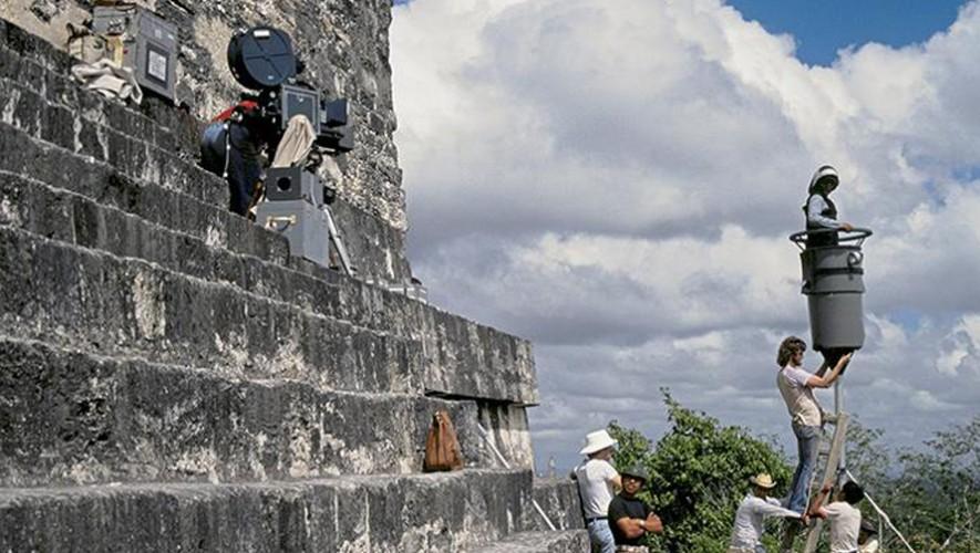 En 1977, George Lucas utilizó Tikal como uno de los escenarios para la película de Star Wars. (Foto: Álvaro Argueta/Fotos Antiguas de Guatemala)