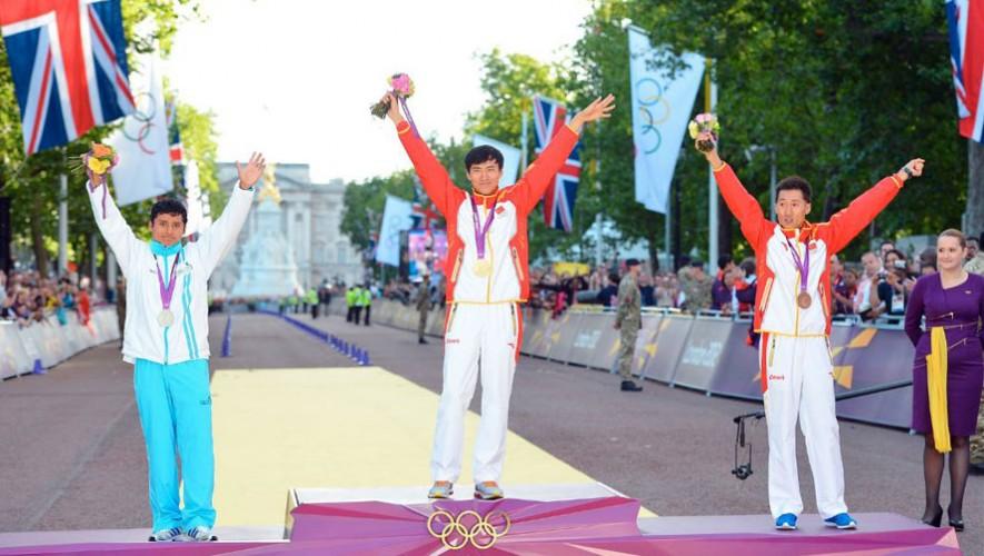 Barrondo en el podio olímpico de Londres. (Foto: AFP)
