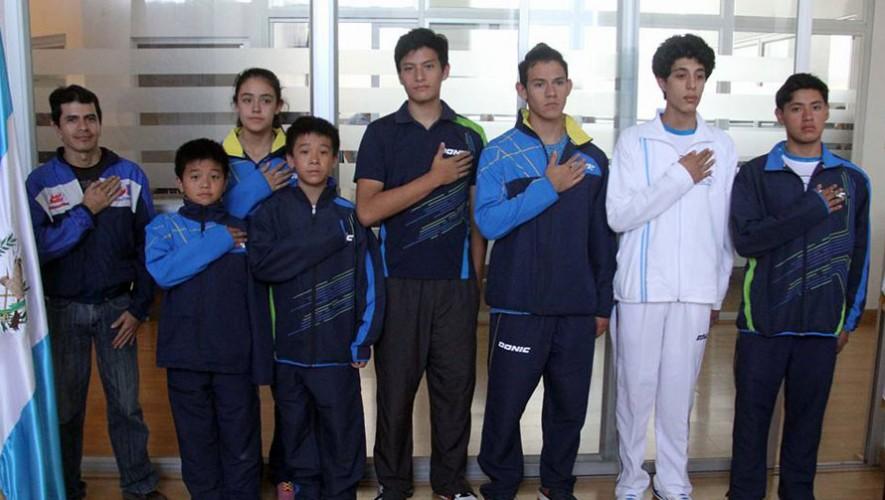 7 tenimesistas guatemaltecos buscarán poner en alto el nombre del país. (Foto: CDAG)