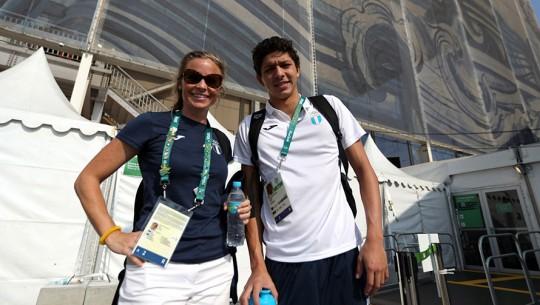 Luis Martínez y Laura Hancock