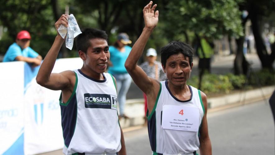 Oscar Raxón, atleta no vidente