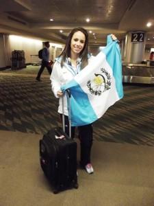 Orgullosa de representar a Guatemala. (Foto: COG)