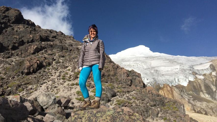 El 18 de diciembre conquistó la cima del Cayambe. (Foto: Cortesía de Pami Mendizabal)