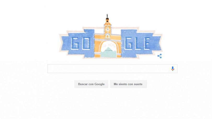 Google celebra a Guatemala con el doodle de hoy 15 de septiembre de 2016. (Foto: Captura)