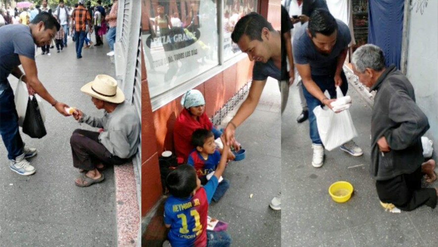 El joven guatemalteco José Borrayo usa parte de su sueldo para compartir con los más necesitados. (Foto: Cortesía José Borrayo)