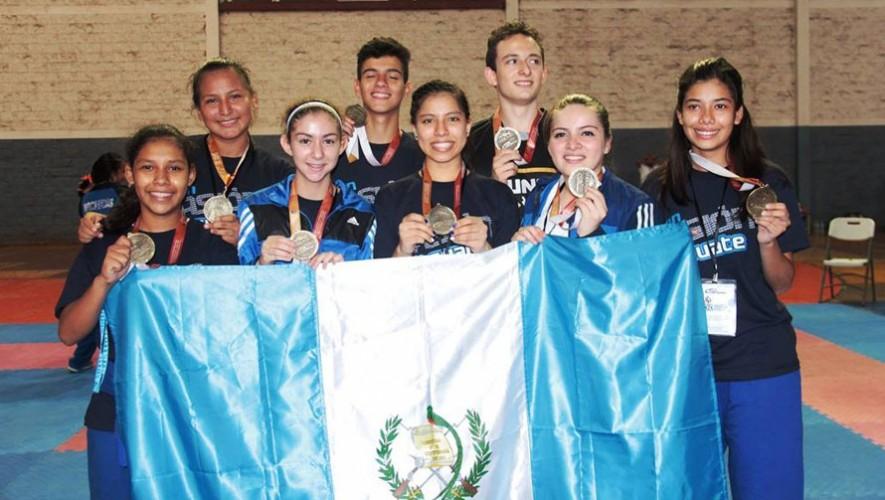 En uno de los deportes en los que destacó Guatemala fue en Karate-Do, tras ganar un total de 14 medallas. (Foto: DIGEF)