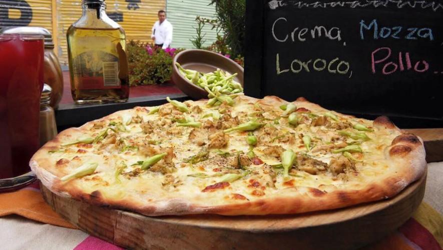 Pizza de loroco
