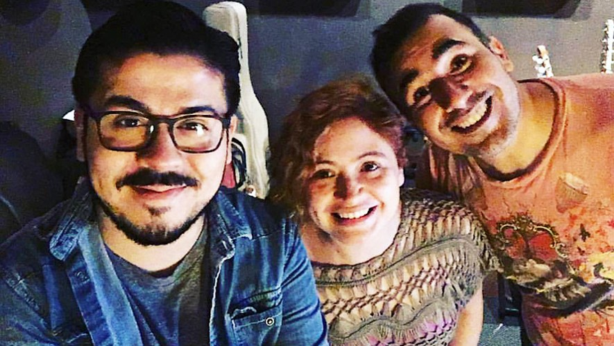 Magda Angélica junto a Chofo Hernández y Francisco Paez de Malacates. (Foto: Magda Angélica)