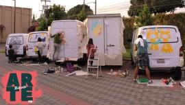 Artistas guatemaltecos plasmaron su arte en camiones repartidores de comida. (Foto: Cortesía Milano)