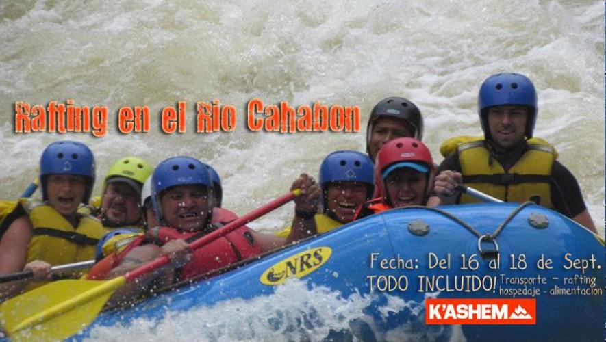 Rafting en río Cahabón y tour por Semuc Champey | Septiembre 2016