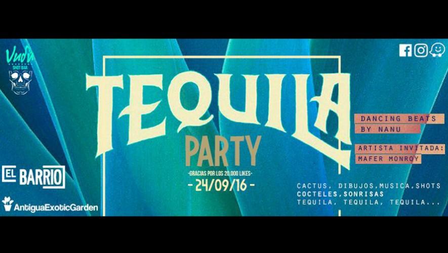 Tequila Party en Vudú Bar en Antigua Guatemala   Septiembre 2016