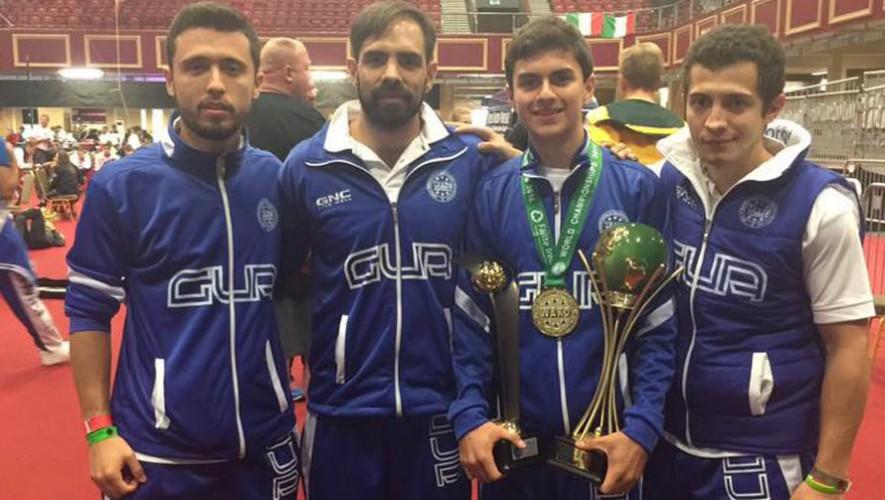 Aremandriz consiguió el único oro para Guatemala en este mundial. (Foto: Wako Guatemala)