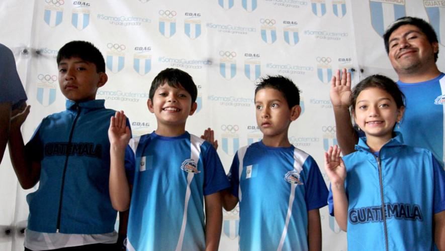 Los niños fueron juramentados este jueves en las instalaciones del Comité Olímpico. (Foto: COG)