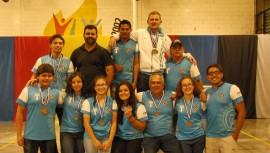 Guatemala logró una cosecha de 17 medallas en total durante 3 días de competencia. (Foto: Federación Salvadoreña de Tiro con Arco)