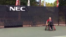 Rueda buscará su pase a la final este viernes ante un tenista estadounidense. (Foto: Federación De Tenis de Campo de Guatemala)