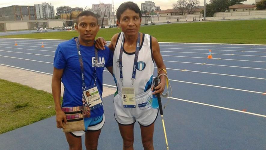 Raxón y Martínez fueron los únicos representantes de Guatemala para estas justas paralímpicas. (Foto: Comité Olímpico Guatemalteco)