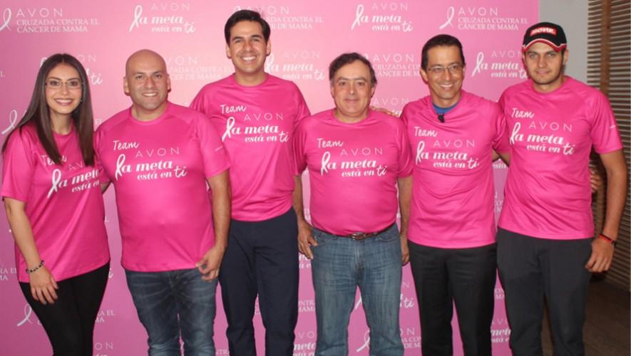 Artistas guatemaltecos que se unen a la lucha contra el cáncer de mama. (Foto: Cortesía Avon)