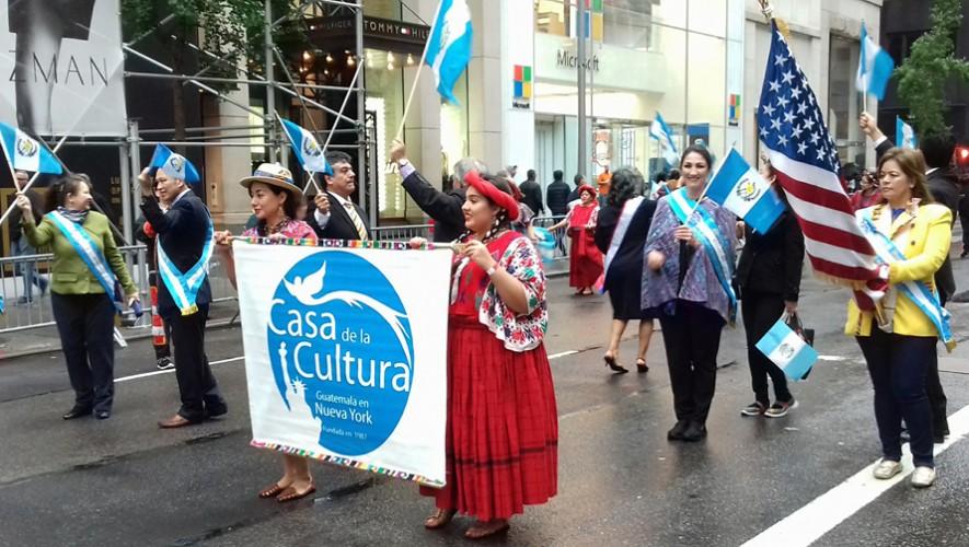 Guatemala presente en el Desfile de la Hispanidad 2016. (Foto: Gerson Miranda)