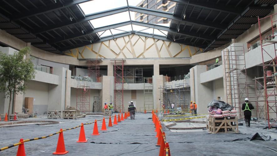 Así lucen los avances de la nueva parte de Oakland Mall. (Foto: Guatemala.com)