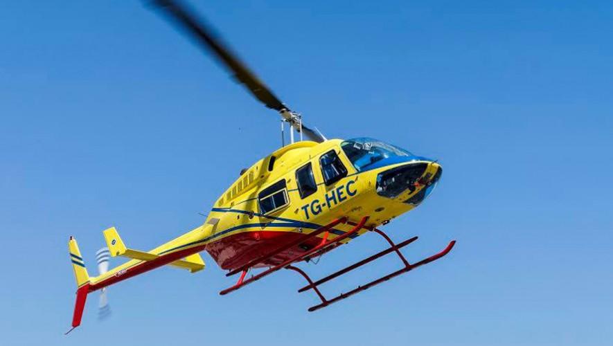 Disfruta de una experiencia increíble sobrevolando la Ciudad de Guatemala. (Foto: Helicópteros de Guatemala)