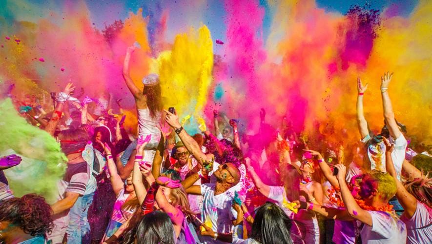 Fiesta Holi One Colour Festival Guatemala   Noviembre 2016