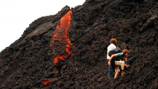 El volcán de Pacaya en Escuintla es uno de los mejores lugares del mundo para escalar. (Foto: José Luis Feliu)