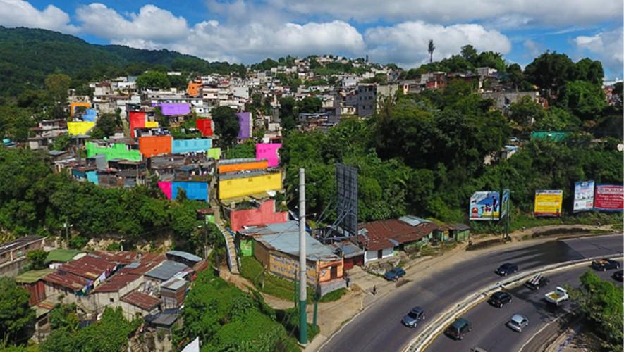 La iniciativa guatemalteca busca pintar el Barrio el Cenicero en Mixco. (Foto: Muni Mixco)