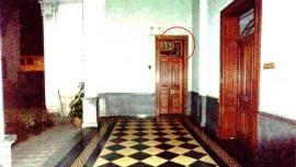 Aunque no había nadie en el lugar, puedes observar la figura de un hombre arriba de la puerta. (Foto: Guatespantos)