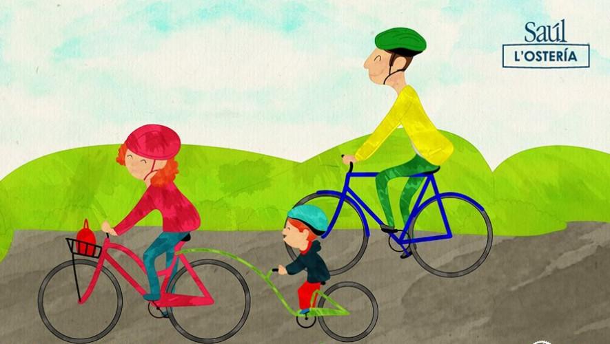 Colazo familiar en bicicleta de Saúl L'Ostería   Octubre 2016