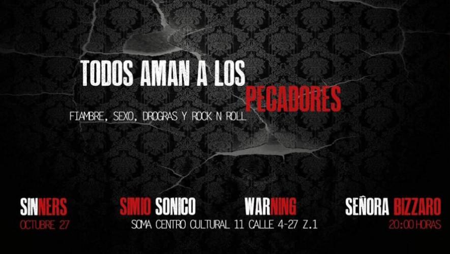 """Concierto """"Todos aman a los pecadores"""" en SOMA zona 1   Octubre 2016"""
