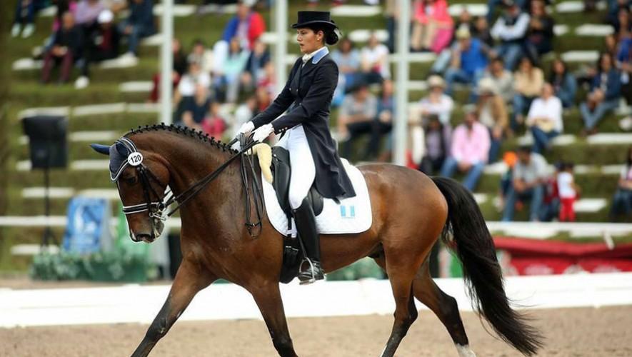 Schorpp fue la otra guatemalteca en participar en el Dressage at Devon. (Foto: COG)