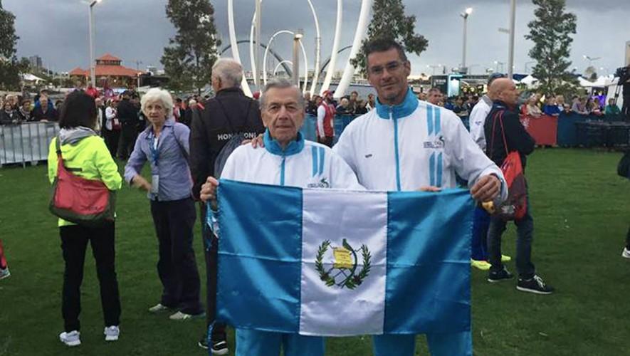 Ambos atletas pusieron en alto el nombre de Guatemala durante el Mundial que se realiza en Australia. (Foto: Henry Santos)