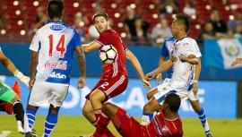 Los actuales campeones del fútbol guatemalteco se enfrentaron este jueves al FC Dallas. (Foto: Concacaf)