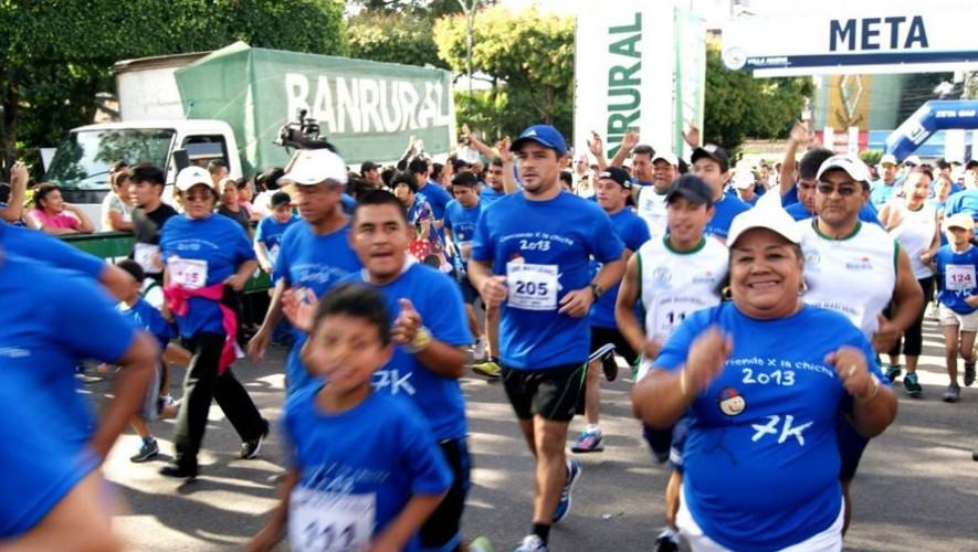 """Carrera 7K """"Corriendo x la Chicha"""" en Villa Nueva  Octubre 2016"""