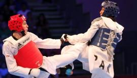 Palacios le dio la única alegría a la delegación de taekwondo en Estados Unidos. (Foto: COG)