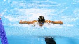 El nadador olímpico buscará mejorar su tiempo con la Universidad de Auburn. (Foto: COG)